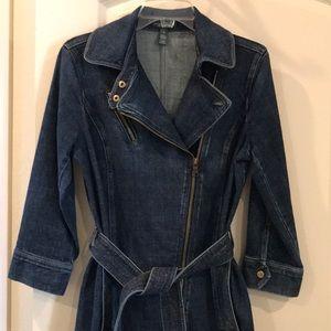 LRL Ralph Lauren Jean Co. Dress Jacket Coat Denim